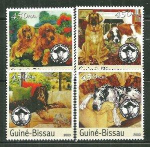 Guinea-Bissau MNH Set Of Dogs Mammals 2003