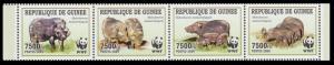 Guinea WWF Giant Forest Hog Strip of 4v MI#6714-6717