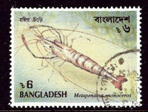 Bangladesh 406 Used 1991 Shrimp    (ap3524)
