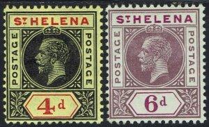 ST HELENA 1913 KGV 4D AND 6D SET