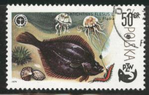 Poland Scott 2327 Used CTO favor canceled Fish stamp 1979
