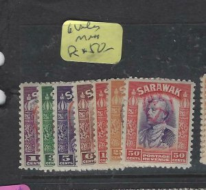 SARAWAK JAPANESE OCCUPATION  (PP0105B) BROOKE OVAL REVENUES 6 VALUES TO 50C MNH