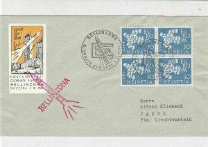 Switzerland 1961 Rocket Slogan Cancel Europa Stamps Cover to Liechtenstein 25830