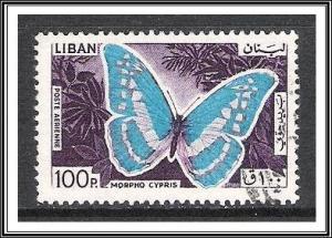 Lebanon #C433 Airmail Butterflies Used
