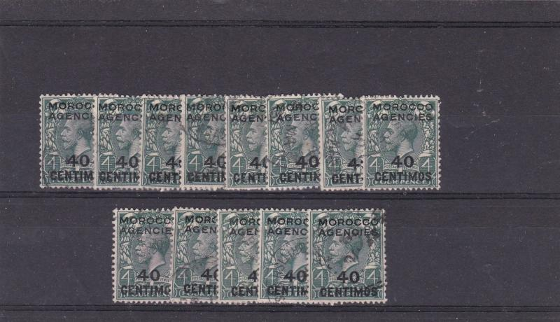 morocco agencies spainish currency  stamps cat 50.00 ref 12722