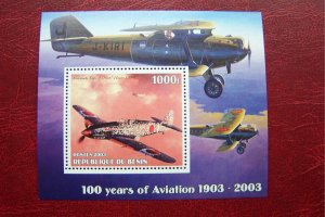 Benin 2003 MNH 100 years of Aviation Planes
