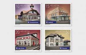 Switzerland 2018 Swiss Railway Stations set mint**