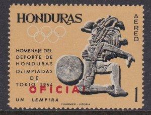 Honduras #CO117 single F-VF Mint NH ** Tokyo Summer Olympics