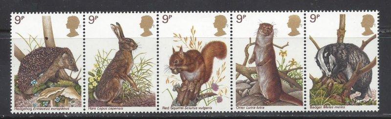 Great Britain MNH Strip 820a Wildlife