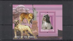 Union Island Grenadines St Vincent 2013 MNH Dogs of World I 1v S/S Lhasa Apso