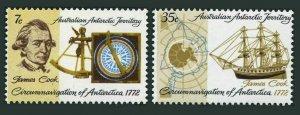 Australian AT L21-L22,MNH.Mi 21-22. James Cook circumnavigation of Antarctica.
