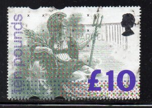 Great Britain Sc 1478 1993 £10 Britannia stamp used