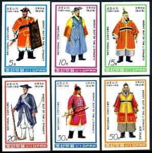 Korea 1844-1849 imperf,MNH. Mi 1874B-1879B. Ri Dynasty Knights' Costumes, 1979.
