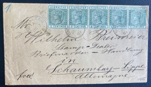 1891 Gibraltar cover To Schaumburg Germany
