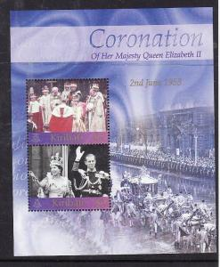 Kiribati-Sc#827-Unused NH sheet-QEII-50th Coronation-2003-