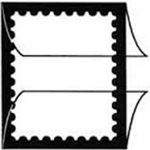Prinz Scott Stamp Mount 26/215 - BLACK Background - Pack of 22