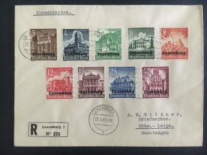 1941 Luxembourg to Bohm Germany First Day Cover FDC Complete Set NB1-9