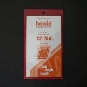 Hawid Stamp Mount Size 127/70 mm - BLACK (Pack of 10) (127x70 70mm)  STRIP  7205