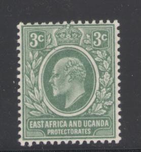 East Africa & Uganda 1907 King Edward VII 3c Scott # 32 MH