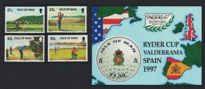 Isle of Man Golf 4v+MS SG#755-MS759