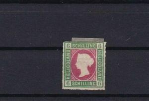 HELIGOLAND 1867 6 sch UNUSED ROULETTE STAMP CAT £275 CONDITION SHOWN REF 6169