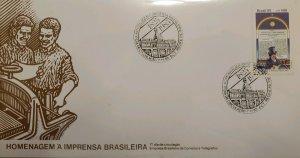 A) 1985, BRAZIL, DIARY, FDC, TRIBUTE TO THE BRAZILIAN PRESS, ECT