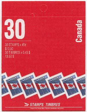 Canada - 1998 45c Flag Complete Booklet mint #BK206b