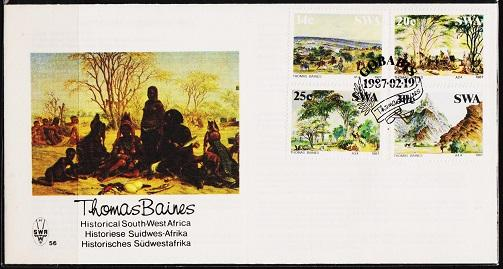 South West Africa. 1987 FDC  Thomas Baines. Fine Used