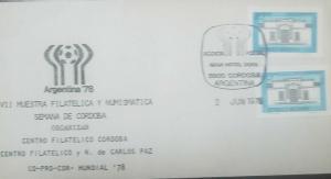 O) 1978 ARGENTINA, INDEPENDENCE HALL-TUCUMAN, VII PHILATELIC AND NUMISMATIC SAMP