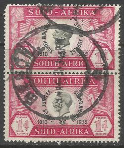 SOUTH AFRICA 69 VFU PAIR Z7474-2