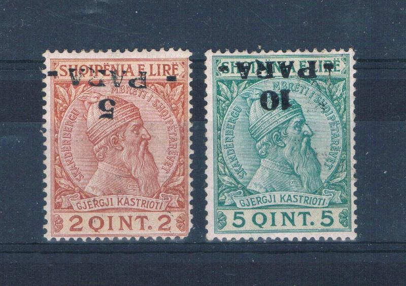 Albania 47a;48a MNH Inverted surcharge (A0175)