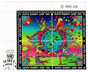 UN New York 608a Used Block of 4