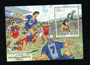 1998- Belgium- Soccer world cup- France 1998-  Fifa - Football- MS- MNH**