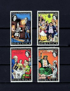 DOMINICA - 1970 - CHRISTMAS CAROL - DICKENS - SCROOGE - MARLEY + MINT - MNH SET!