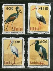 Namibia 1994 Storks of Etosha Birds Wildlife Animal Fauna Sc 766-69 MNH # 777
