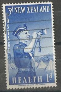 NEW ZEALAND, 1958, used 3p + 1p Bugler, Boys? Brigade. Scott B55