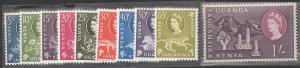 Kenya Uganda Tanganyika 1960 Scott 120-29 short set MNH