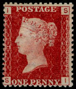 SG44, 1d lake-red plate 94, M MINT. Cat £65. SI