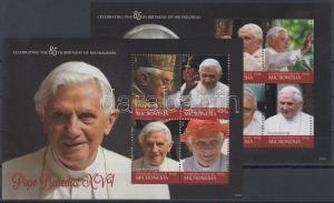 Micronesia stamp 85 anniversary of XVI. Pope Benedict block pair MNH WS125365