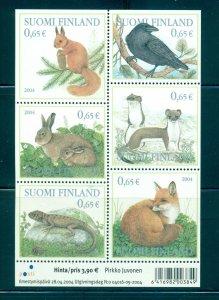 Finland - Sc# 1214. 2004 Forest Animals. MNH Block. $14.00.