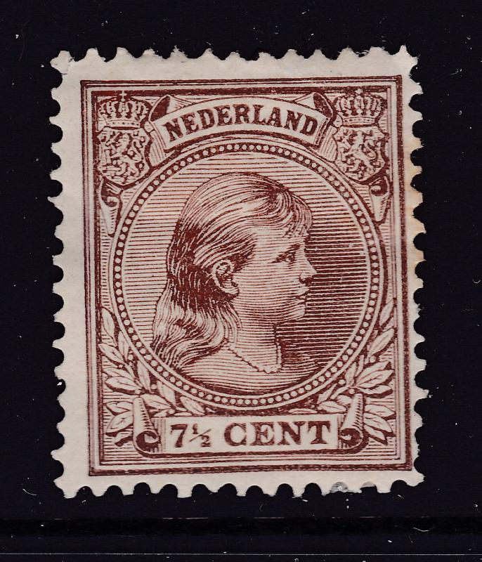 Netherlands a MH 7.5c from the 1891 series