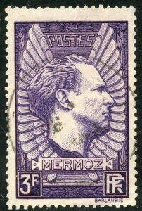 France Scott 326 UFVLH - 1937 Memorial to Mermoz - SCV $3.75