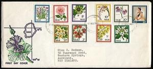 NIUE 1969 Definitive set on commem FDC...............18293