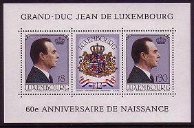 Luxembourg 60th Birthday of Grand Duke Jean MS SG#MS1059 MI#Block 13 CV£3.25