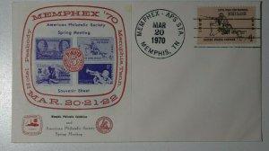 MEMPHEX APS Sta Memphis TN 1970 Spring Meeting Philatelic Expo Label Cachet