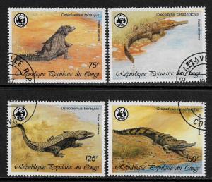 Congo Rep #C367-70 Canceled Set - WWF - Crocodiles (e)