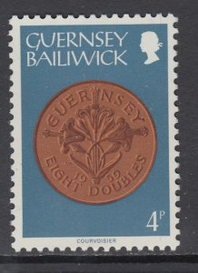 Guernsey 176 Coin on Stamp MNH VF