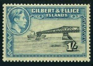 Gilbert & Ellice 48,hinged.Michel 46. Georg VI,1939.Phosphate loading jetty.