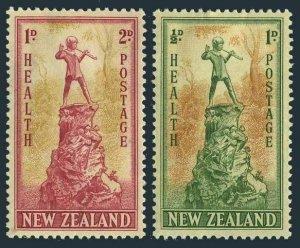 New Zealand B26-B27 blocks/4,MNH.Michel 280-281. Health 1945.Peter-Pan statue.