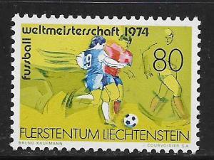 LIECHTENSTEIN, 549, MNH, SOCCER (FUSSBALL)